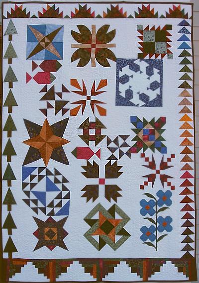 An Alaskan Sampler Quilt Kit Debbie Caffrey