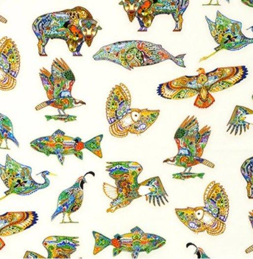 Animal Spirits Backer  5 1/8 yd Sue Coccia