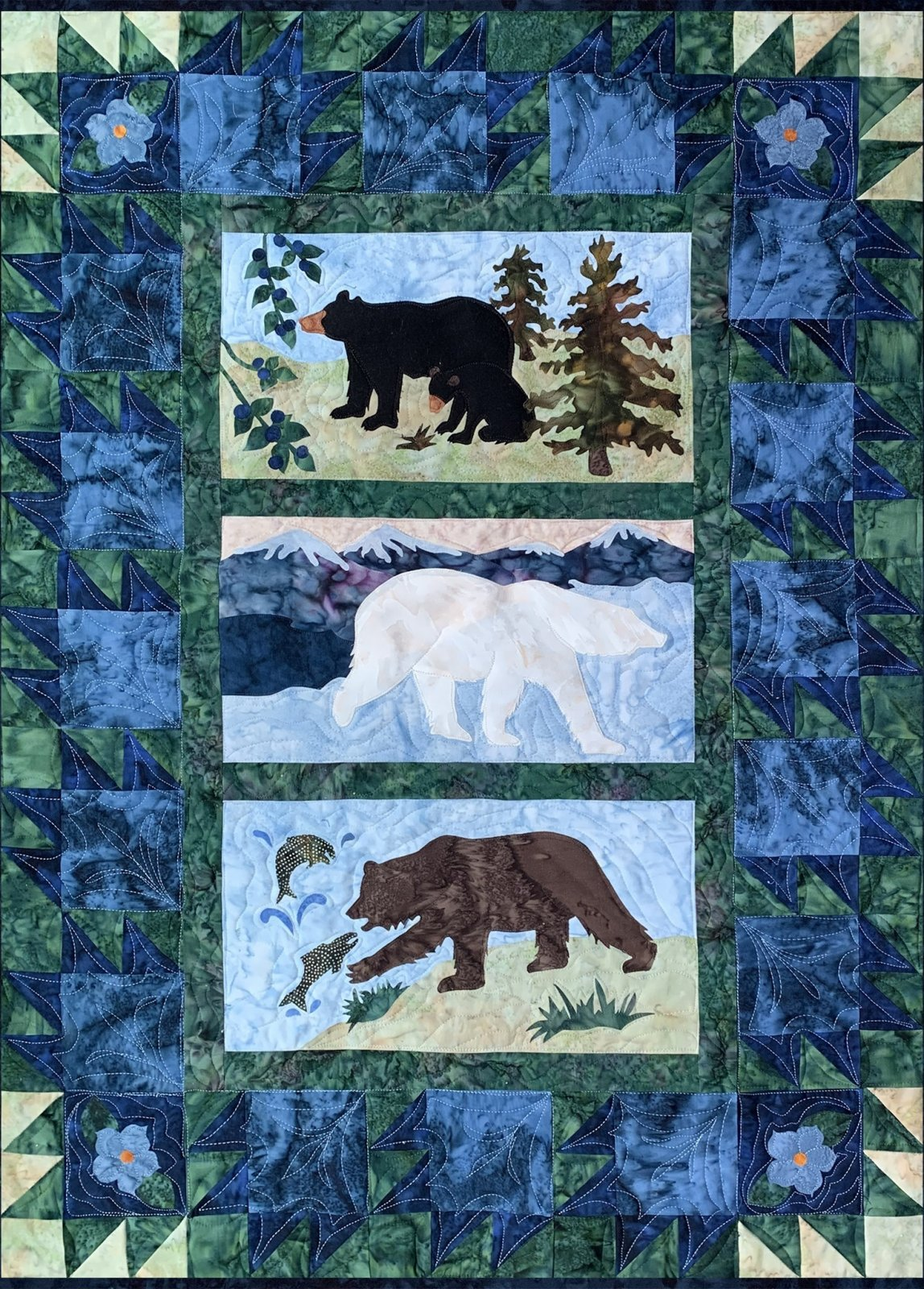 Alaska's Three Bears Kit-QuiltAlaska