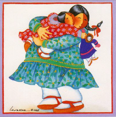 Hugs Fabric Panel-Barbara Lavallee