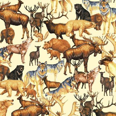 Animals-Tan-Winter Woodlands CC 60003-9