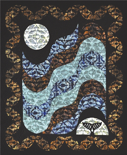 Moon Over Glacier Bay-Onyx Lap Size Quilt Kit-Quilts with a Twist