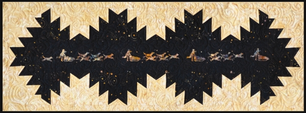 Delectable Dog Sled Tablerunner Black Kit-Quilts with a TwistLi