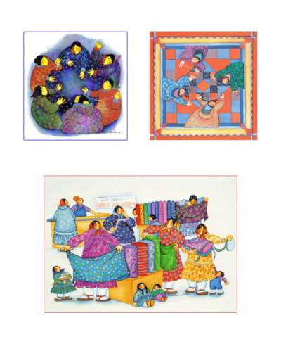 3 Quilt Art Fabric Panel-Barbara Lavallee