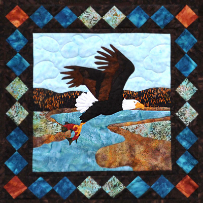 Eagle's Prize Wall Quilt Kit-Copper River Hot Yotts
