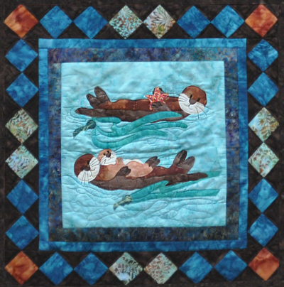 Sea Otter Family Wall Quilt Kit-Copper River Hot Yotts