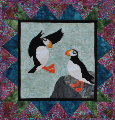 Puffin Play Wall Quilt Kit-Copper River Hot Yotts