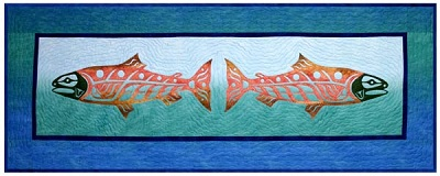 Wild Alaskan Salmon Laser Cut Applique  Kit-Quilts with a Twist