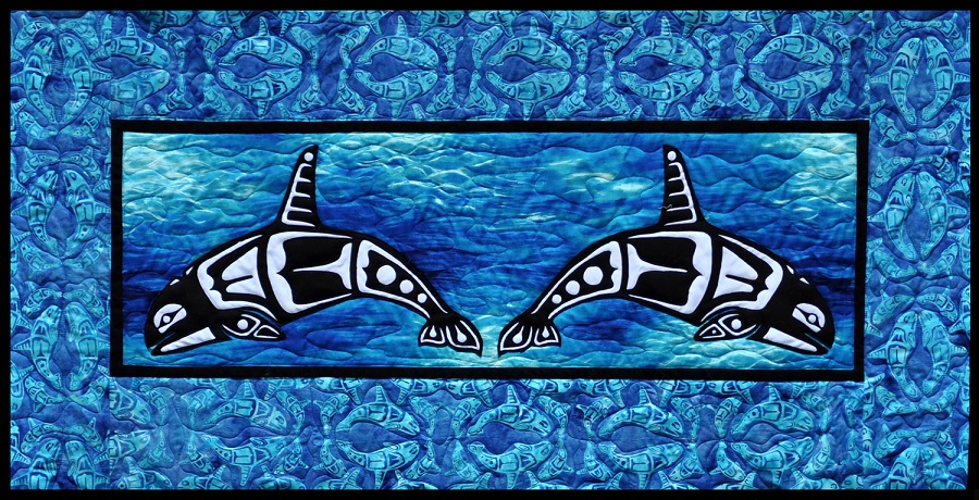 Orca Quilt Kit with Laser Cut Applique