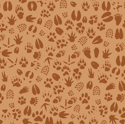 Camp-A-Lot Paw Prints-RB-C3504 Brown
