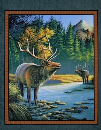 Elk Panel P15 SPR 47777-1 yd Mountain Sky