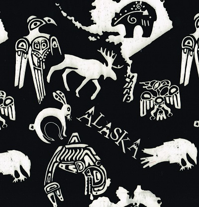 Alaska Specialty Batik SH15-AL-L-Black & White