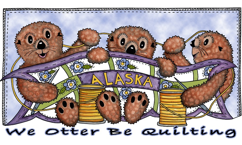 We Otter be Quilting Panel