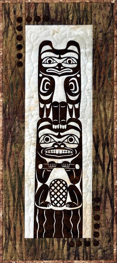 Mini Totem Laser Cut Applique Quilt Kit-Raven Beaver