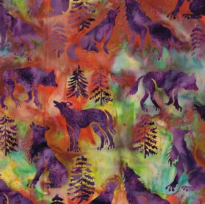 Batik Wolves-SH16-RLl-L Purple