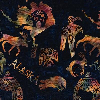 Alaska Specialty Batik SH15-BL-L Midnight