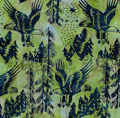 Batik Eagles SH17-CM-Green Blue