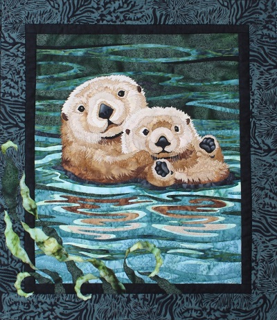Sea Otters Quilt Kit by Toni Whitney