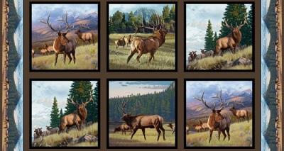 North American Elk Panel-ELS5012-Earth (P42)