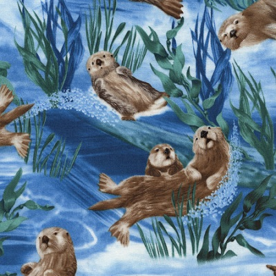 Sea Otters-TT-C03024 Blue