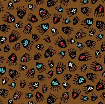 Totem Bear Paw Prints BTX 5024-77 Brown