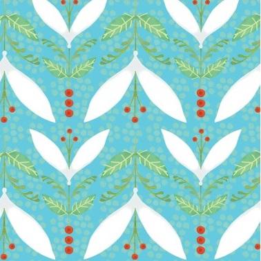 Woodsy Leaves-CW-Y1656-103 Aqua