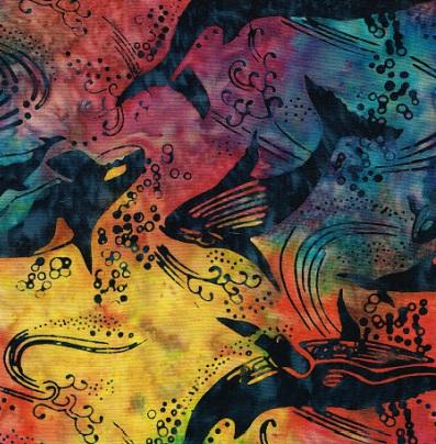 Whale & Orca Batik SH23-Rainbow