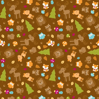 Happy Camper Critters RB C4730-Brown