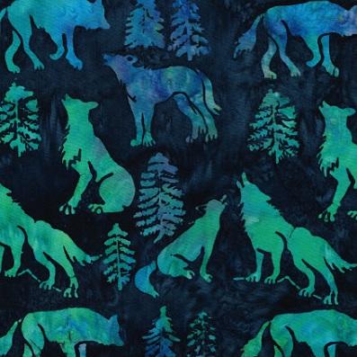 Batik Wolves-SH16-IM Blue