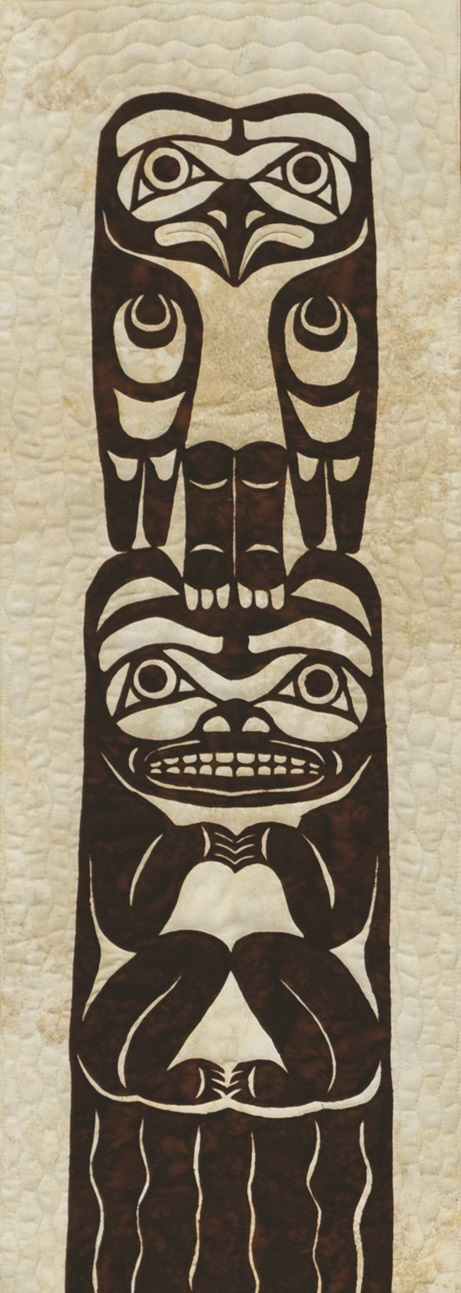 Large Totem Eagle Bear Laser Applique