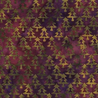 Pine Tree Batik IB 111503047 Burgundy