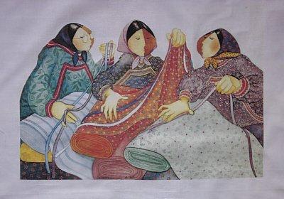 Eskimos & Calicos Fabric Panel-Barbara Lavallee