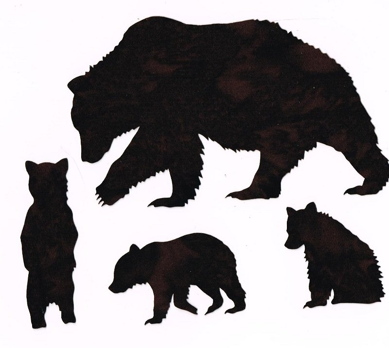 Laser Cuts Bear Paws Brown