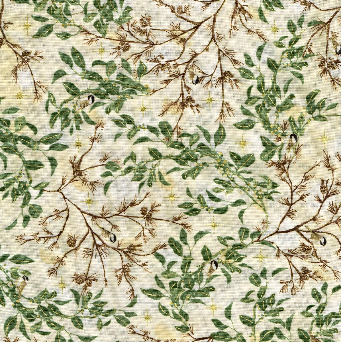 Chickadees K 15157-15 Ivory