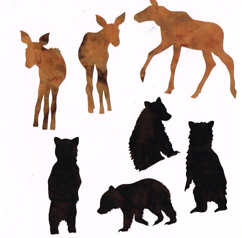Laser Cuts Cubs & Calves-Brown-Black Bear Moose