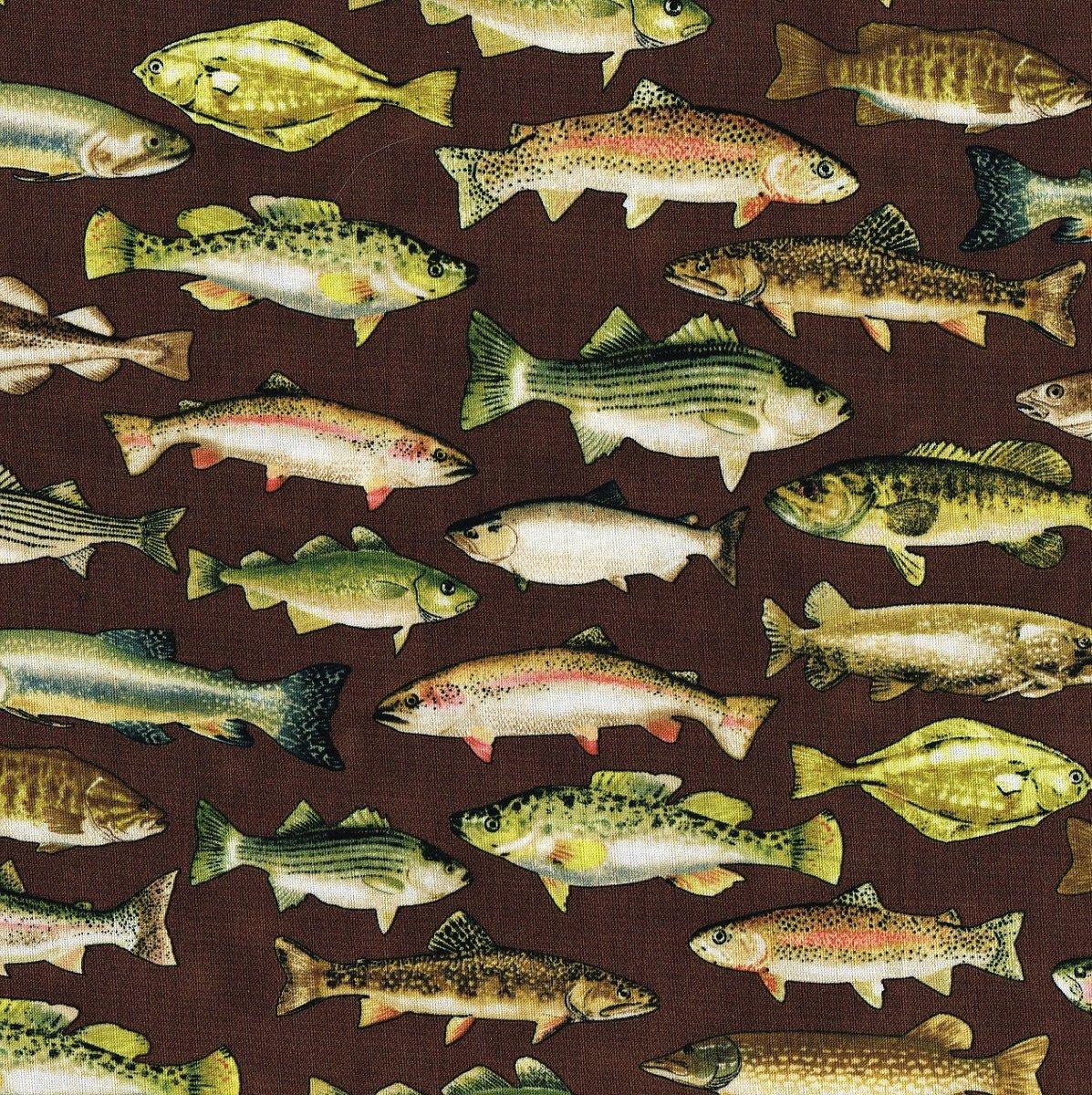 Fish on Brown BTX 5740-77