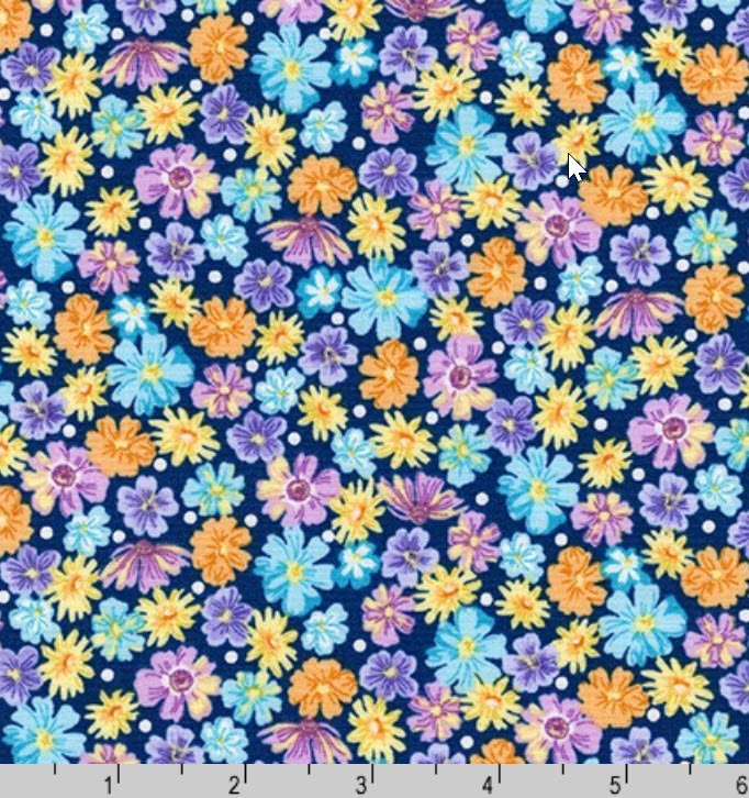 Flowerhouse Wildflowers K 20290-9 Navy