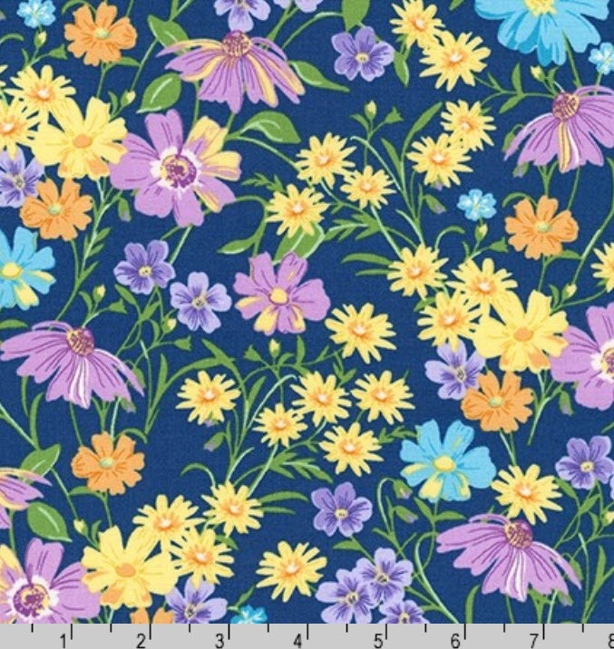 Flowerhouse Wildflowers K 20288-9 Navy