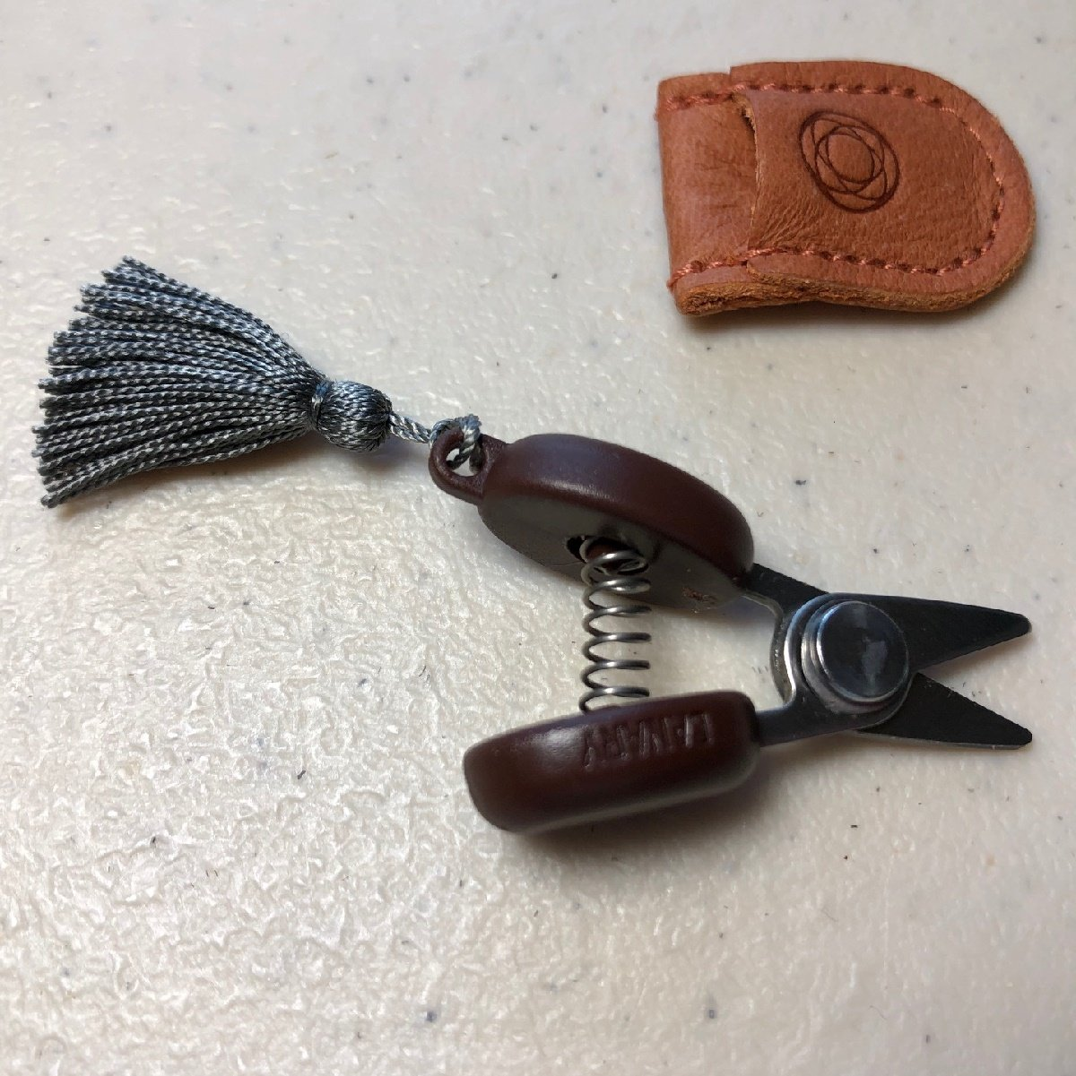 Mini Scissor and Case Grey Tassle
