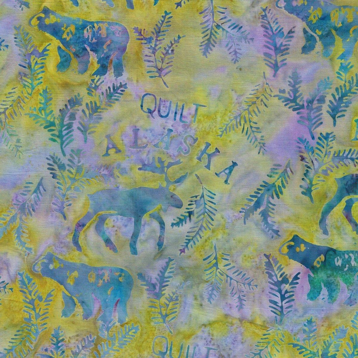 QuiltAlaska Batik SH42-C2 Lt Blue Lime
