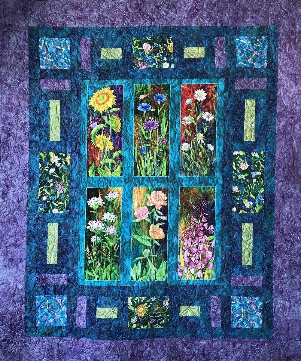 Quilt Kit In My Garden Ascone Flower Jewels
