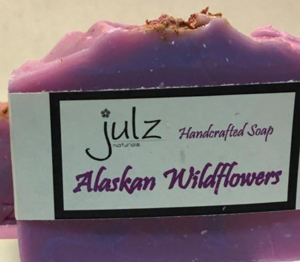 Julz Soap Alaska Wildflowers