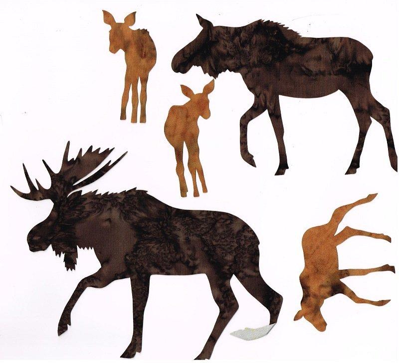 Laser Cuts Just Moose Natural Browns