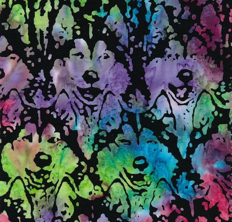 Husky Heads Batik Jon Van Zyle 31M-1 Mixed Colors