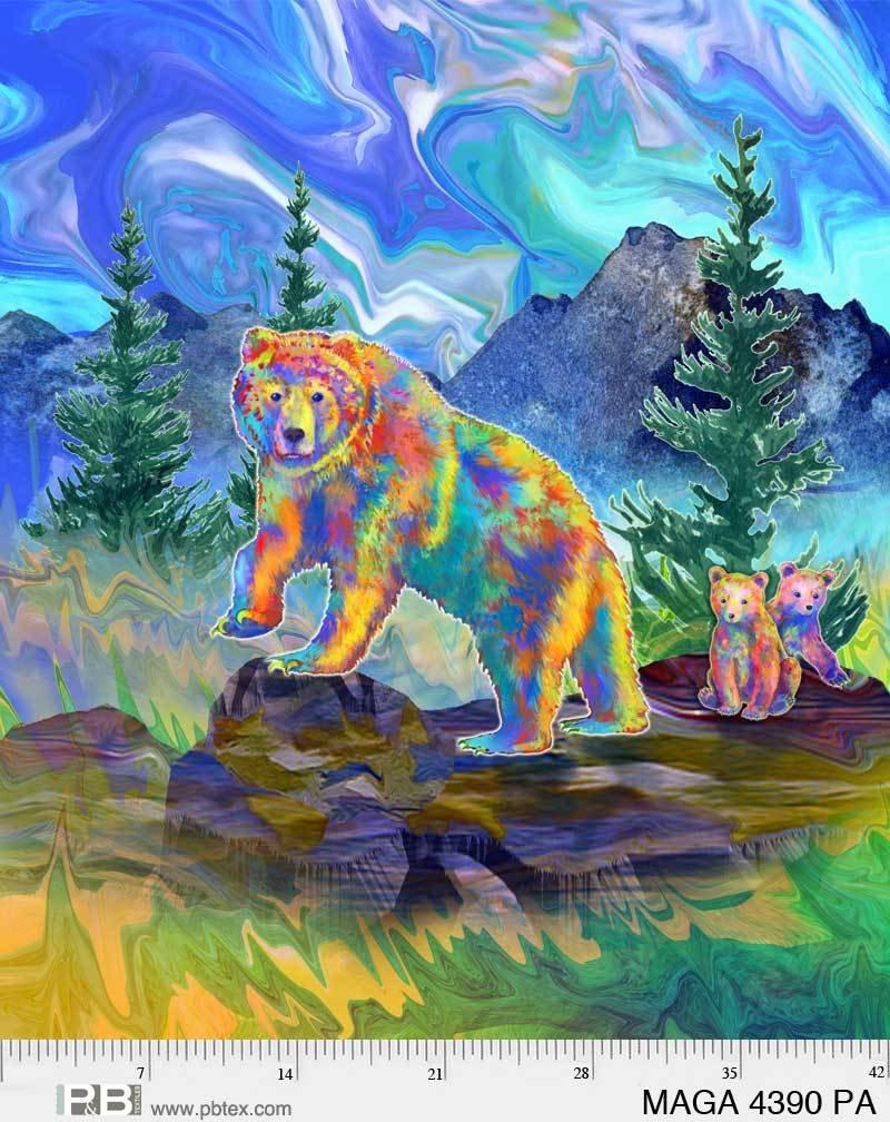 Magnificent Animals Panel Bear P87 4390 PA Ascone