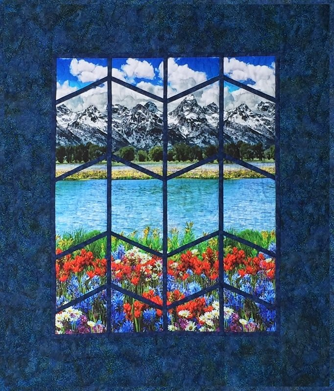 Majestic Mountain Quilt Kit Floral Flowers