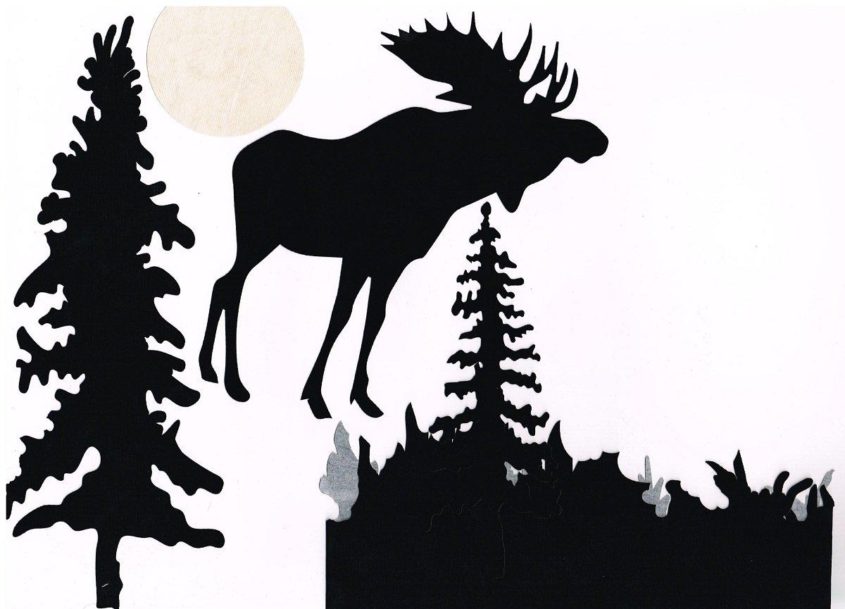 Northern Lights Moose Laser Applique Only