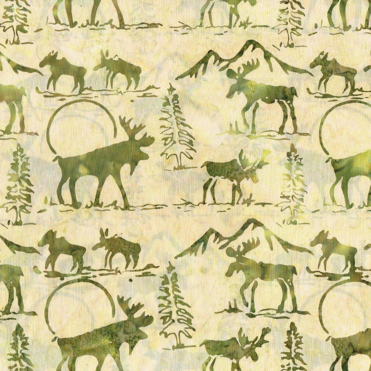 Moose & Calf Batik F2031-184 Willow