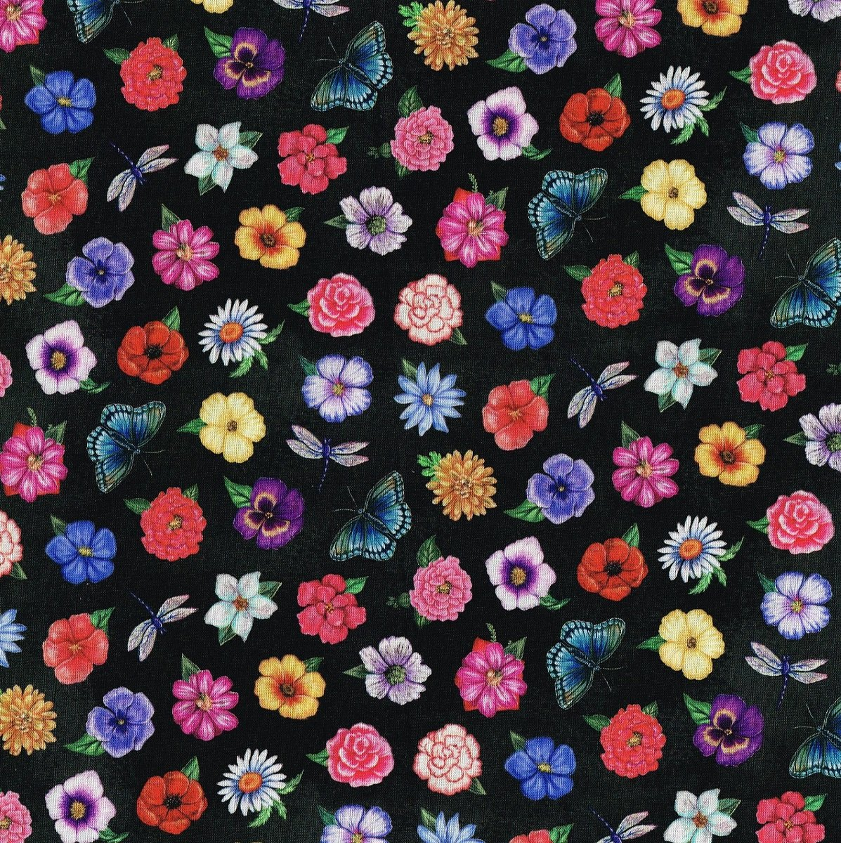 Floral Medley NC 21788-99 Black