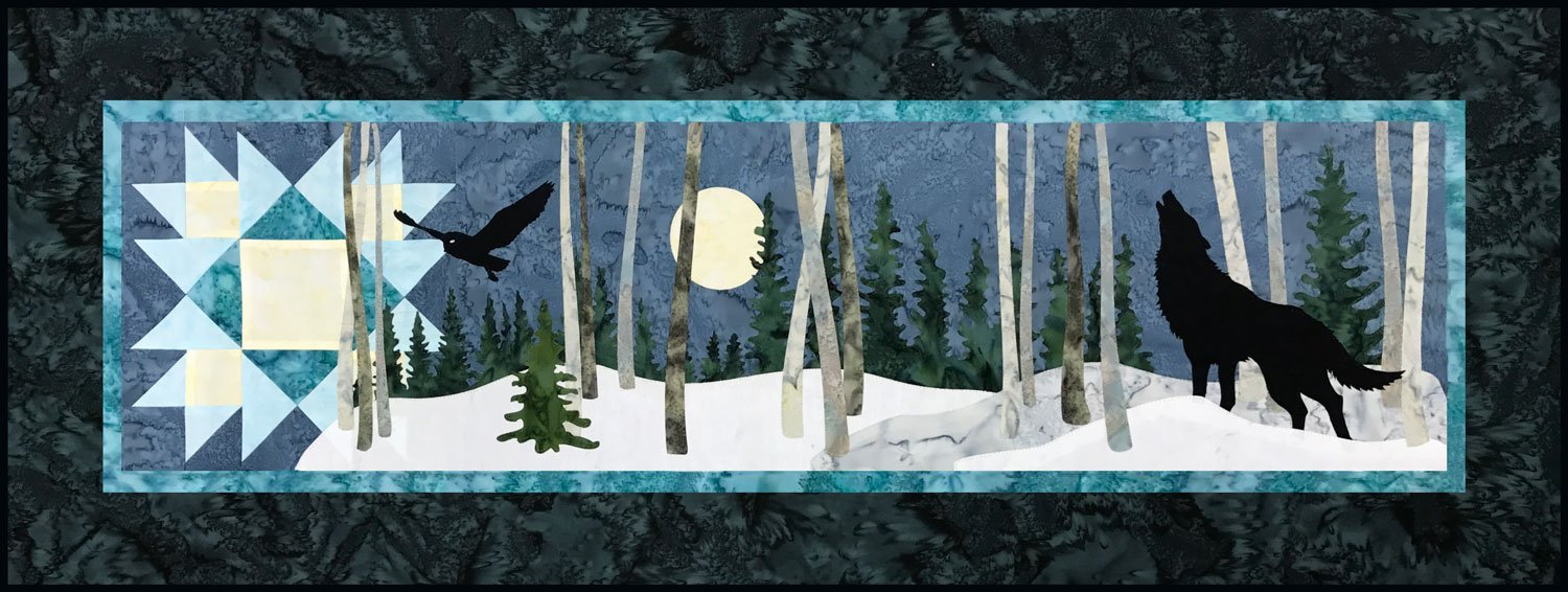 Night Watch Wolf Laser Cut Quilt Kit